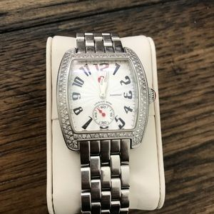 Michele Urban Mini Diamond Sapphire Crystal Watch